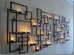 New Patio Fireplace Wall Decor 25 Ideas Candle Wall Decor, Wall Candle Holders, Candle Wall Sconces, Room Wall Decor, Wall Decorations, Modern Wall Decor, Scapa Home, Wall Design, House Design