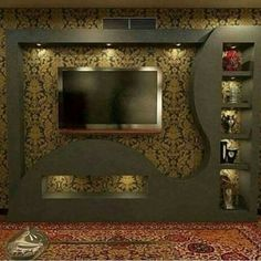 Home Decor: 20 Wonderful places for TV wall mount Lcd Panel Design, Modern Tv Wall, Wall Mounted Tv, Tv Wall Design, House Ceiling Design, False Ceiling Design, Tv Room Design, Living Room Tv Unit Designs, Wall Design