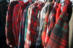 vignette design: Hunting and Gathering at Candlestick Park Pendleton Shirts, Pendleton Woolen Mills, Pant Shirt, Shirt Skirt, Candlestick Park, Vignette Design, Coffee Cozy, Red Fashion, Flannel Shirts