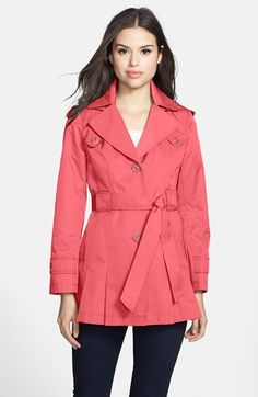 Via Spiga 'Scarpa' Single Breasted Hooded Trench (Regular & Petite) available at #Nordstrom