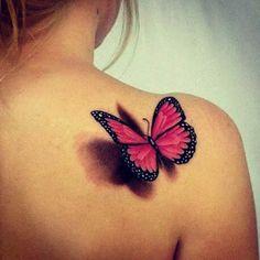 butterfly butterfly tattoo on shoulder, butterfly tattoos for women, pretty tattoos for women Tattoo Girls, Tattoo Pink, Butterfly Tattoos For Women, Butterfly Tattoo Designs, Tattoo Designs For Women, Tattoo You, Girl Tattoos, Realistic Butterfly Tattoo, Watercolor Butterfly Tattoo