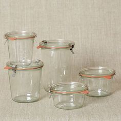 West Elm has Weck Jars in all shapes and sizes! Woot. (Weck Glass Jars, sold individually #WestElm)