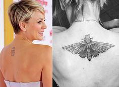 """Out with the old, in with the new! """"Big Bang Theory"""" star Kaley Cuoco showed off her new and improved ink that covered up a very bad memory. Cuoco had her wedding date to ex-husband Ryan Sweeting tattooed on her upper back before they ended up splitting in September after 21 months of marriage. """"The deep, meaningful, larger than life meaning behind this beautiful piece of ink, is..... It covered the last one,"""" she captioned the Instagram photo from Nov. 24, 2015. Ouch!"""