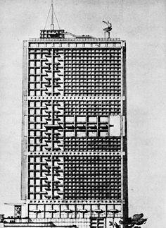 Project for an Office Building/Algiers/Le Corbusier/1938