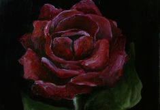#redroses #flower #rose #plants #nature #gothic #gothicbeauty #oil #oilpainting #painting #art #artist #artwork #dailydrawing #daily #print #prints #society6 #home #homedecor #interiors