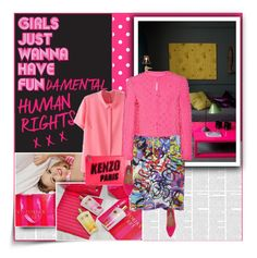 """Fundamental Human Rights"" by grace-eun-ae-boye ❤ liked on Polyvore featuring Victoria's Secret, McQ by Alexander McQueen, Moschino, Kenzo, Jigsaw and kenzo"