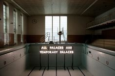 """All Palaces arte Temporary Palaces"" Robert Montgomery / Echoes of Voices in the High Towers / Installations in public space"