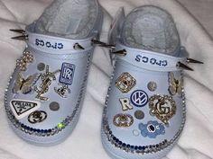 Crocs Slippers, Crocs Shoes, Crocs Fashion, Sneakers Fashion, Jordan Shoes Girls, Girls Shoes, Designer Crocs, Fluffy Shoes, Bling Shoes
