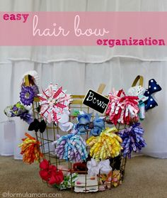 Easy Hair Bow Organization