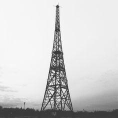 Radiostacja, najwyższa drewniana konstrukcja w Europie.