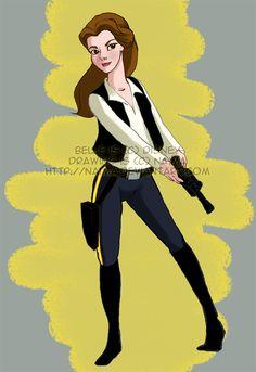 Go Belle!  Disney PrincessJedis! - News - GeekTyrant