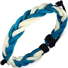 Timeless Treasures Jewelry offers Handcrafted Men's and Women's Jewelry for the Expressive & Artistic Soul White Leather, Treasures Jewelry, Braids, Women Jewelry, Blue And White, Bracelets, Products, Bang Braids, Cornrows