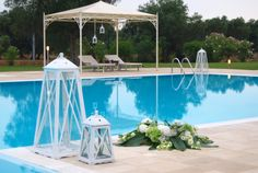 Decorazione per Matrimonio in Piscina -Pool Wedding decoration #pool #wedding #piscina #matrimoniocampagna #salento #puglia #masseriacordadilana