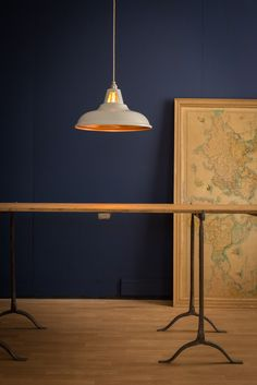 Supersized Coolicon Pendant Light in Matt White & Copper | Artifact Lighting