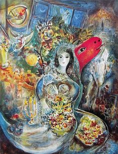 Marc Chagall The Bride (La Mariée), 1950, gouache and pastel, 68 ...