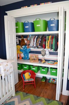 Charmant Slippers By Day: Kids Closet Organization