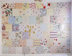 ceiling wallpaper - lovely idea, but perhaps different patches...