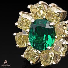 Rarer than rare. A magnificent design by M.A Alaghband reveals the details beauty of the Stunning natural vivid flawless Yellow Diamonds with Emerald... #alaghband #alaghbandwishes #alaghbandmoments #alaghbandemeralds #alaghbanddiamonds #diamond #diamondlove #diamondlover #diamondaddict #fancydiamonds #yellowdiamonds #highjewelry #ourdesign #maalaghband #specialdesign #stunning #jewelry #jewellery #jewelrygram #instajewelry #instagem #1396 #2017