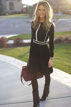 Marc Jacobs 'Slalom' sweater dress: 15 Stylish Women Office-Worthy Outfits For Winter 2014-15 | Styleoholic