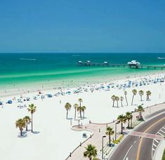 #Clearwater #Beach #Florida. Yes! I have been on this beach many times when I lived in Florida... the water is warm and clear....there was a quaint restaurant that I used to love to go to... that had awesome Fish N Chips..... right across the street and I would watch the BEAUTIFUL sunsets....I moved from Florida in 2005.