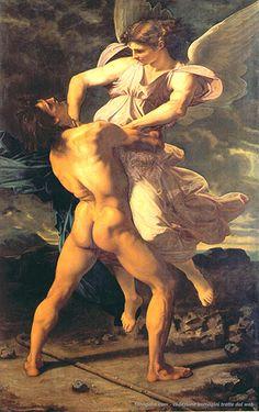 Paul Baudry – La lotta di Giacobbe con l'angelo