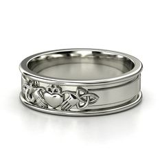 Sterling Silver Ring | Claddagh Knot Band | Gemvara
