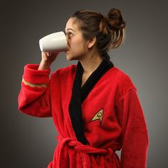 star trek bathrobe.  but not red, anything but the red!