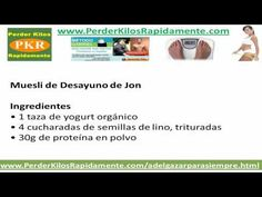 Recetas Para Adelgazar: Jon Gabriel - WHATCH THE VIDEO HERE:  - http://www.how-lose-weight-fast.co/videos/recetas-para-adelgazar-jon-gabriel/ -