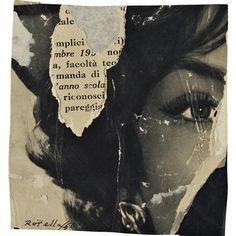 Mimmo Rotella Riconoscimento, 1961 dada constructivist dreams ❤ liked on Polyvore featuring people
