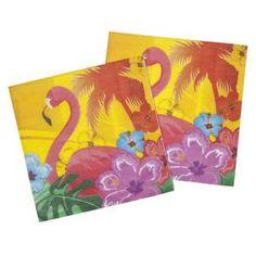 12 Serviettes Hibiscus Hawaï