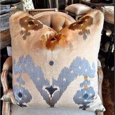 Pillows at Boxwood Interiors...love