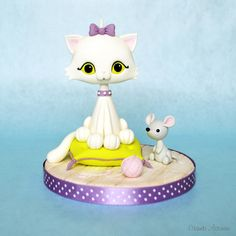 Cat and Mouse cake topper