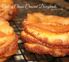 ~Grilled Cheese Crescent Doughnuts!  I wonder if I can bake them instead of frying them. *strokes imaginary beard*