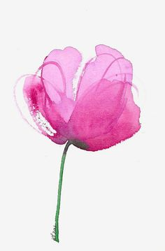 Lovely Clusters - Beautiful Shops: Watercolor flower art print of a pink peony