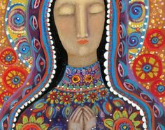 etsy virgin mary needlepoint | THE MEXICAN MADONNA ARCHIVAL GICLEE PRINT ...