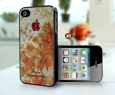 iphone cases and covers iphone 4s case black  iphone 4 cover rusted metal texture image phone case design. $13.99, via Etsy.