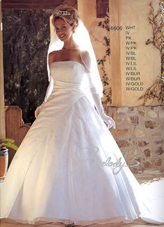 Wedding Gowns w/Detatchable Train 6606 (Click picture for more details)