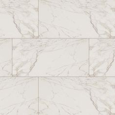 """MSI Pietra Series, Carrara marble look porcelain tile in polished finished. Size 12"""" x 24"""""""