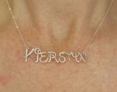 Disney Style Custom Name Necklace 14K Gold by deannewatsonjewelry