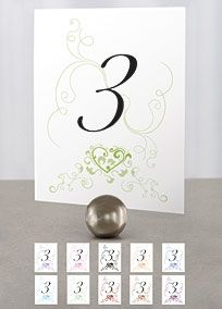 David's Bridal | Reception and Favors | Wedding Reception | Table Number Cards | Non-Personalized $7 for 12