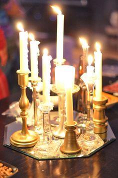 candles lit-centerpiece by ...love Maegan
