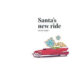 Check out Santa's new ride