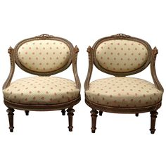 Pair of Napoleon III Slipper Chairs | From a unique collection of antique and modern chairs at http://www.1stdibs.com/furniture/seating/chairs/