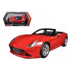 Ferrari California T (open top) Red 1/18 Diecast Model Car by Bburago