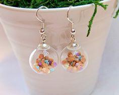 Mini Iced Gems Glass Globe Earrings