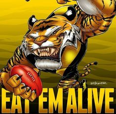 Richmond Football Club, Tiger Art, Yellow Black, Tigers, Comic Books, Strong, Superhero, Logos, Sports