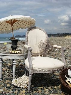 Vintage chair. Beautiful setting