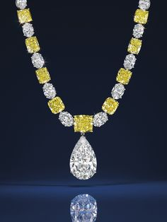 Collier Graff et diamant taille poire Graff Christie's New York