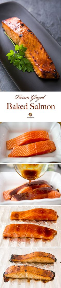 Hoisin Glazed Baked Salmon
