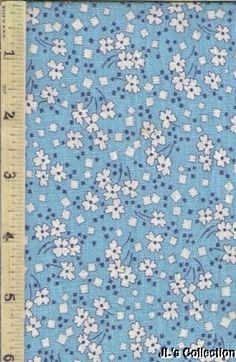 Blue Background White FlowersSmall Blue & White Squares FULL FEEDSACK